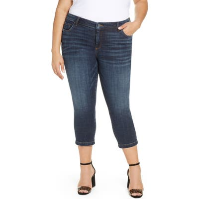 Plus Size Kut From The Kloth Lauren Crop Straight Leg Jeans, Blue