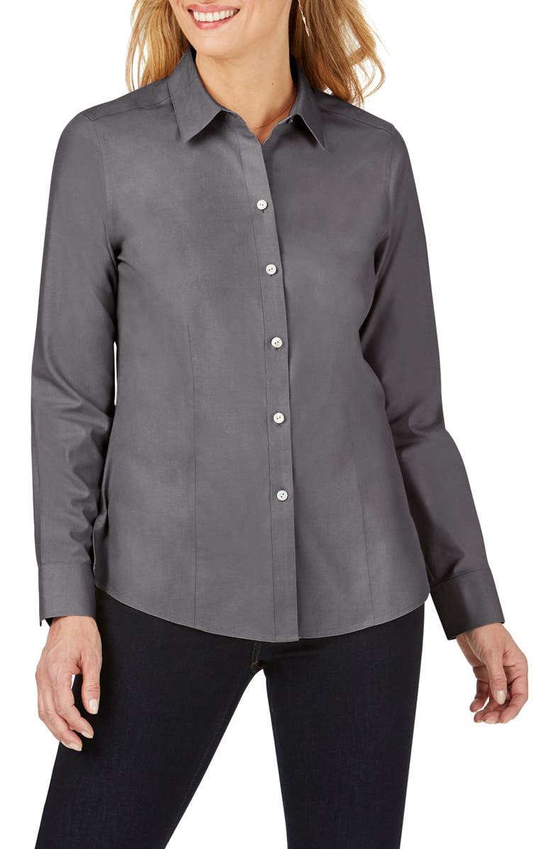 FOXCROFT Dianna Non-Iron Cotton Shirt, Main, color, 020