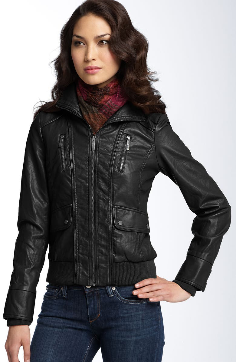hot-selling best cheap lower price with Faux Leather Bomber Jacket