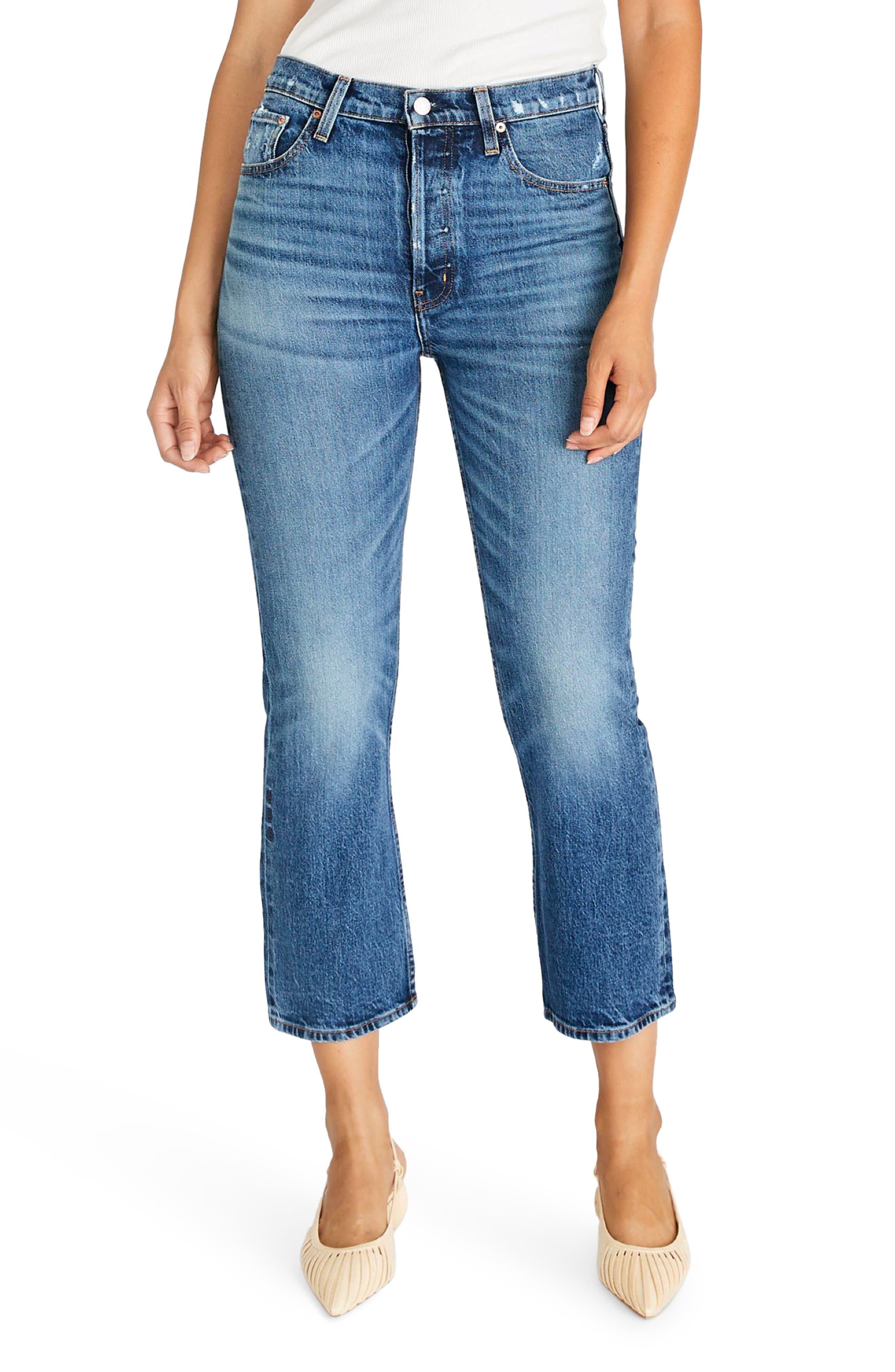 Women's Etica Josie High Waist Raw Hem Flare Jeans