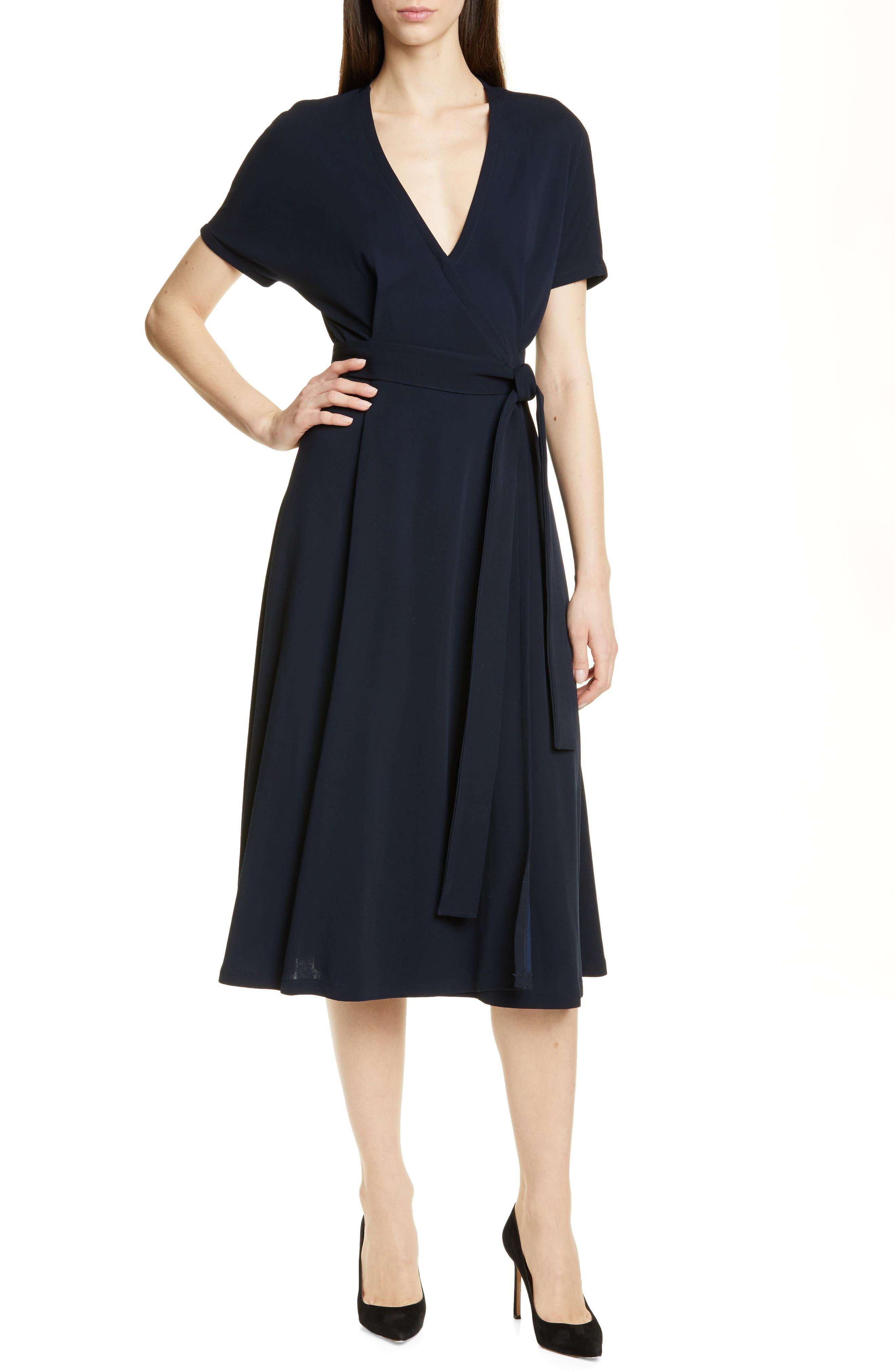 Boss Efiana Wrap Dress, Blue