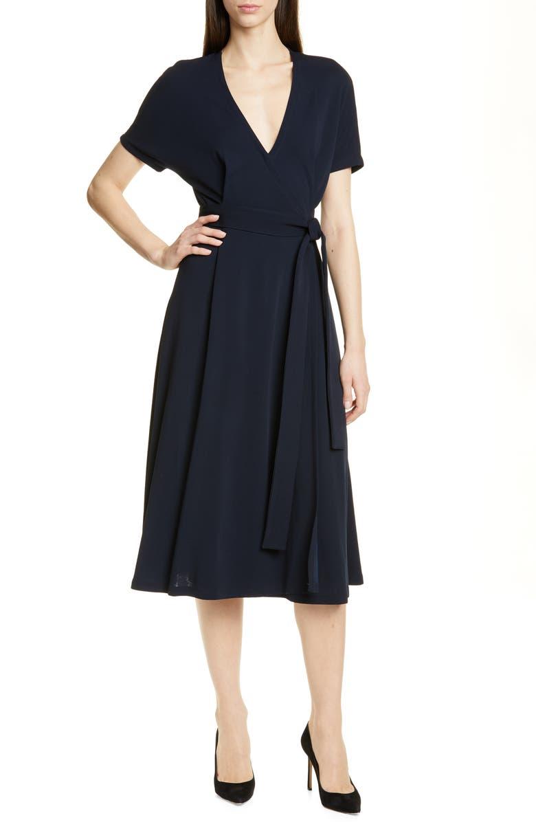 BOSS Efiana Wrap Dress, Main, color, 480