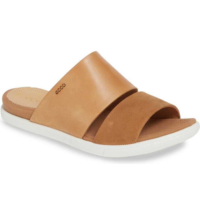 ECCO Damara Slide Sandal, Main, color, CASHMERE LEATHER