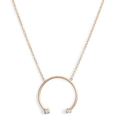 Zoe Chicco Diamond Open Circle Pendant Necklace