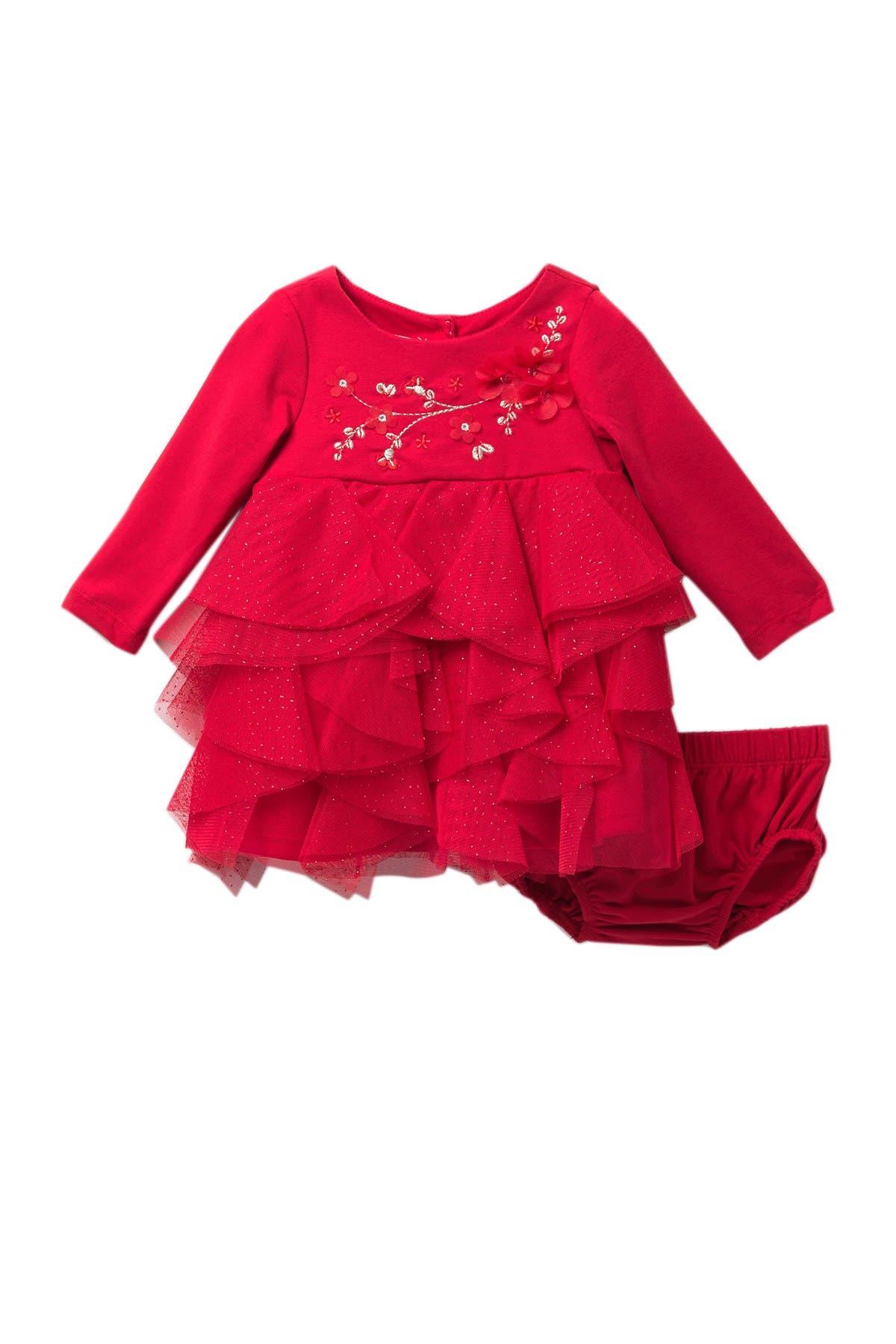 Image of BISCOTTI Ruffled Glitter Dress Set