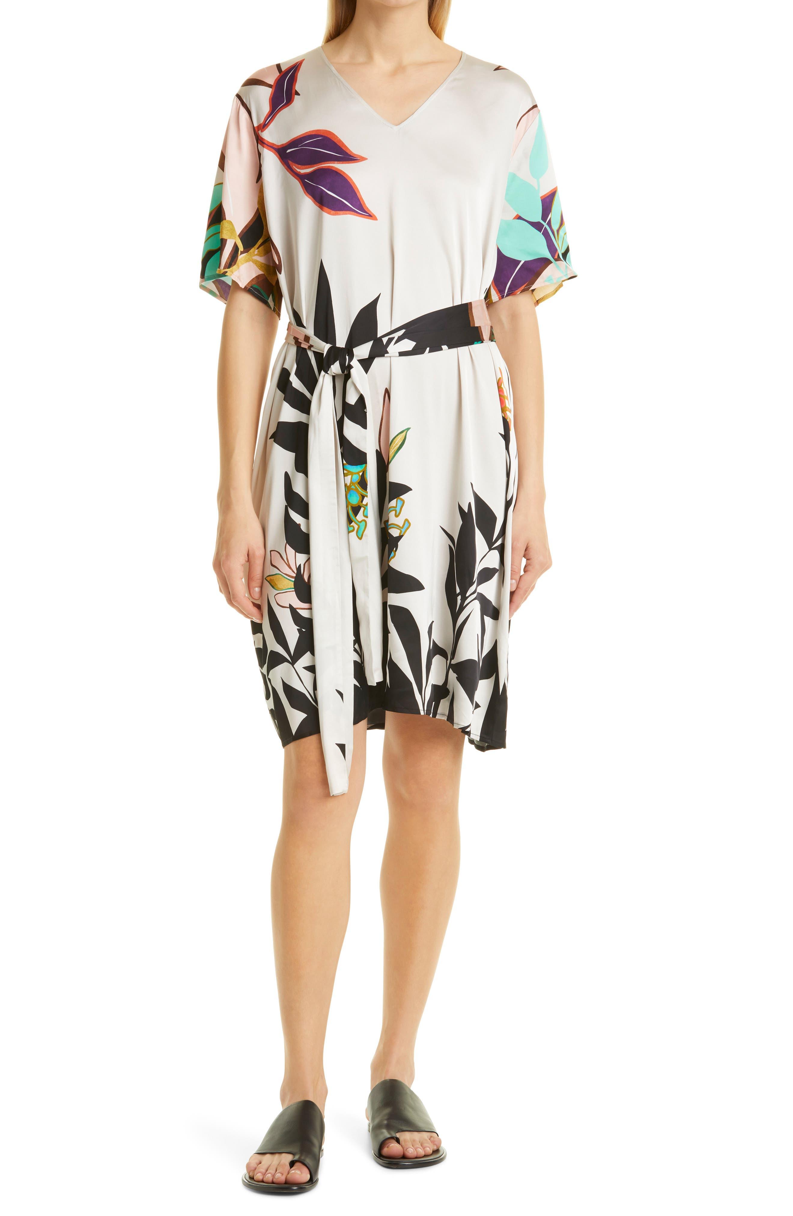 Purnia Floral Satin Dress