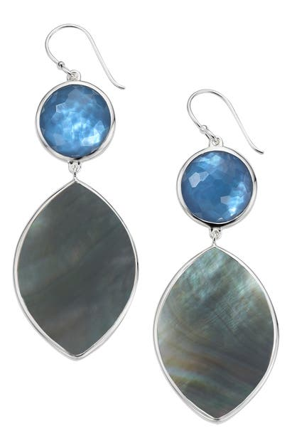 Ippolita WONDERLAND STONE & MARQUISE SHELL DROP EARRINGS