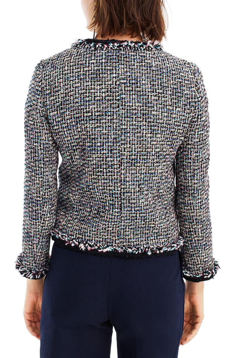 J.CREW Lady Metallic Tweed Jacket, Main, color, 009