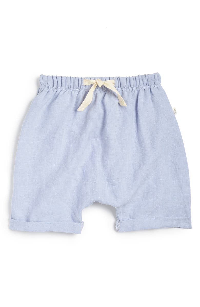 LES GAMINS The Linen Shorts, Main, color, CIEL