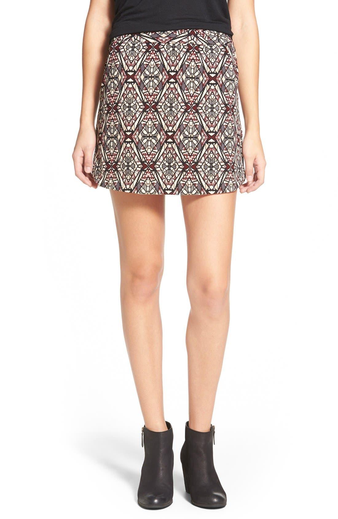 ,                             Knit Miniskirt,                             Main thumbnail 6, color,                             261