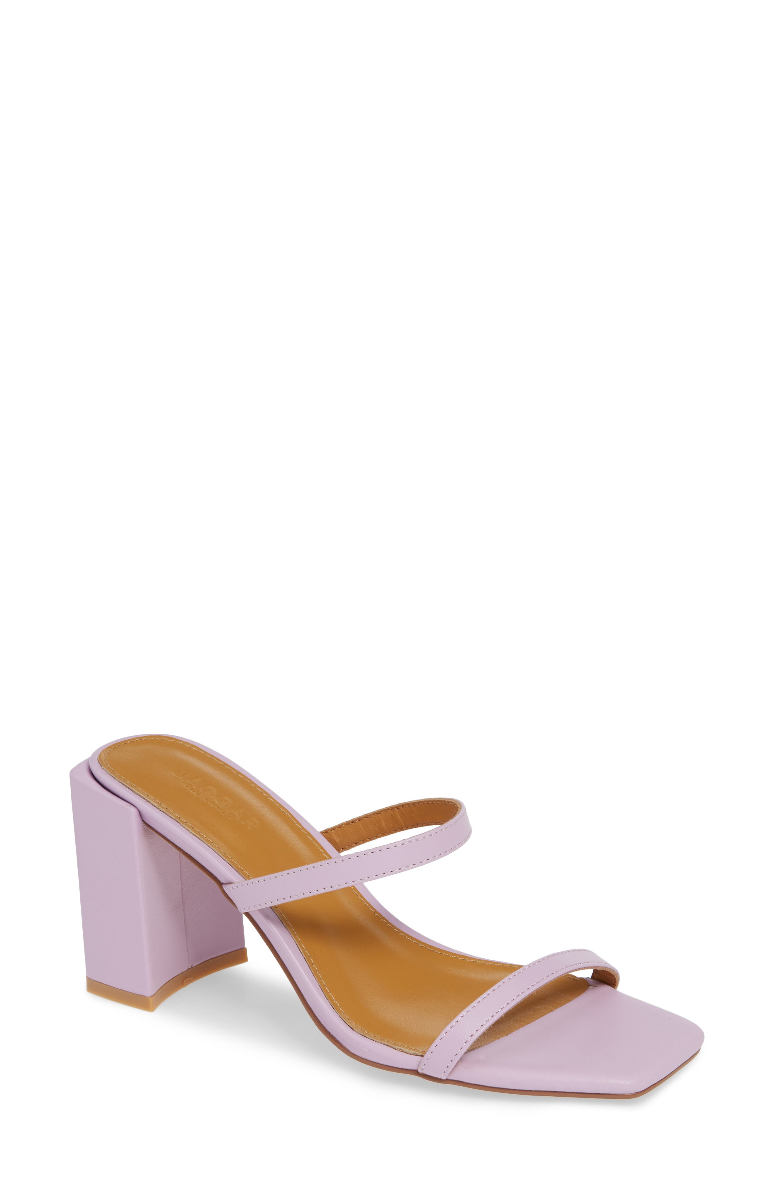 Strappy Slide Sandal, Main, color, LILAC LEATHER