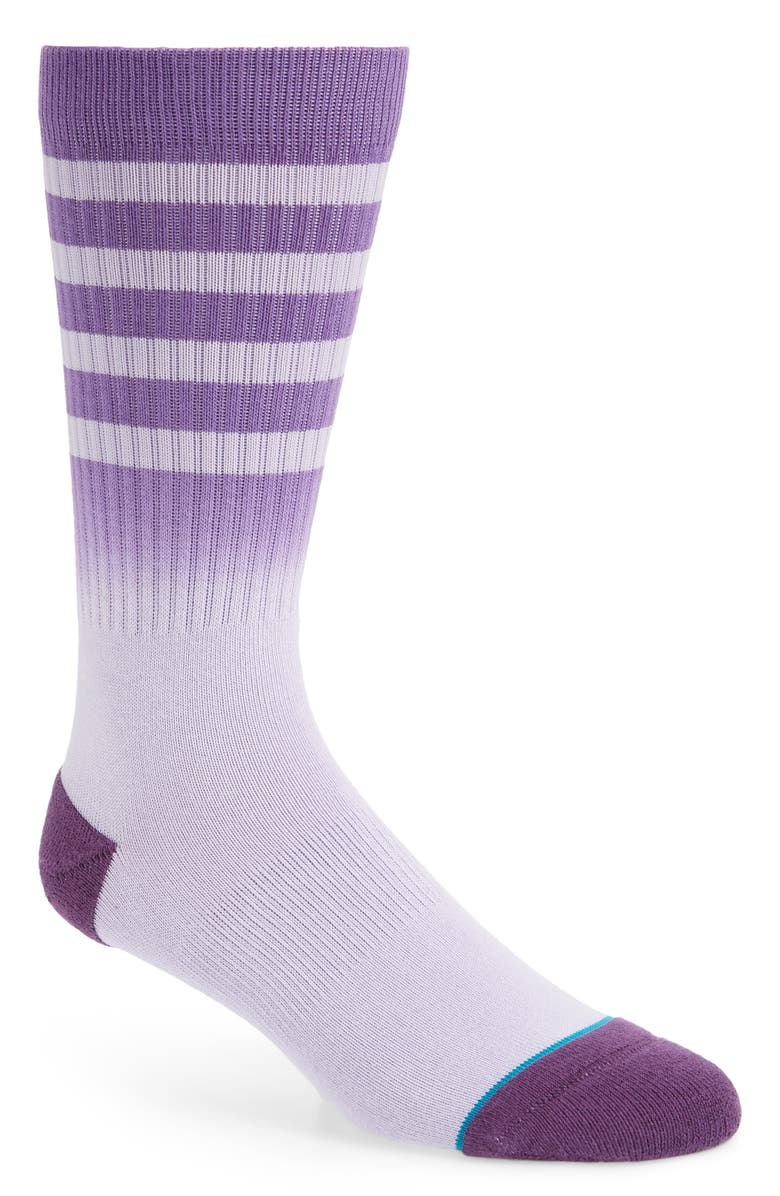 STANCE Bobby 2 Stripe Crew Socks, Main, color, PURPLE