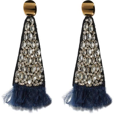 Lizzie Fortunato Crystal Fan Earrings