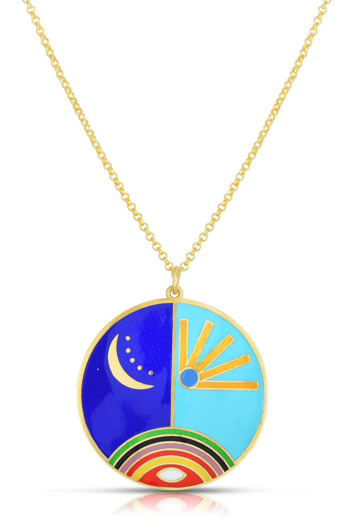 Sphera Milano 18K Gold Plated Sterling Silver Pendant Necklace at Nordstrom Rack