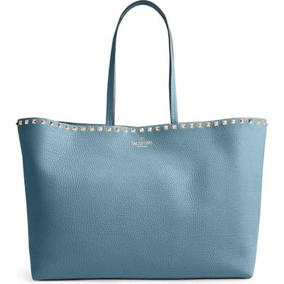 Valentino Garavani Rockstud Leather Tote - Blue