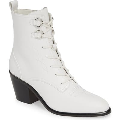 Diane Von Furstenberg Dakota Lace-Up Bootie, White
