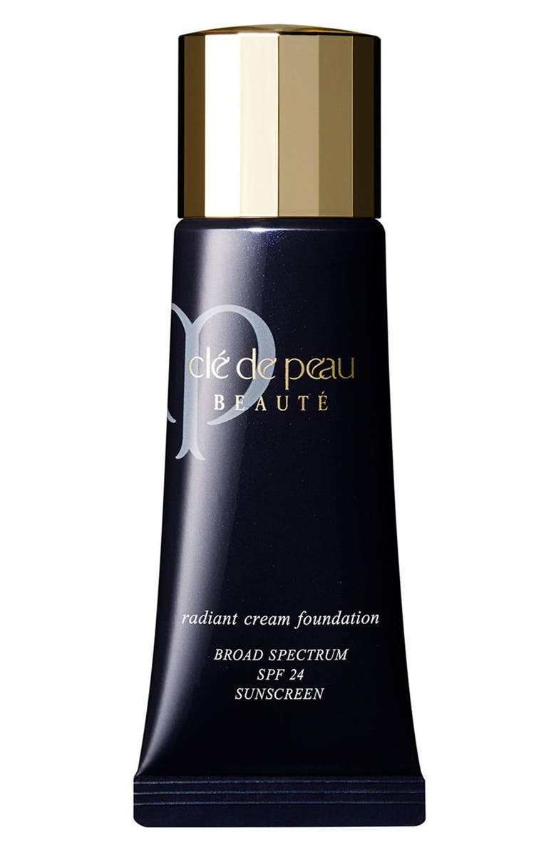 CLÉ DE PEAU BEAUTÉ Radiant Cream Foundation SPF 24, Main, color, I10 - Very Light Ivory