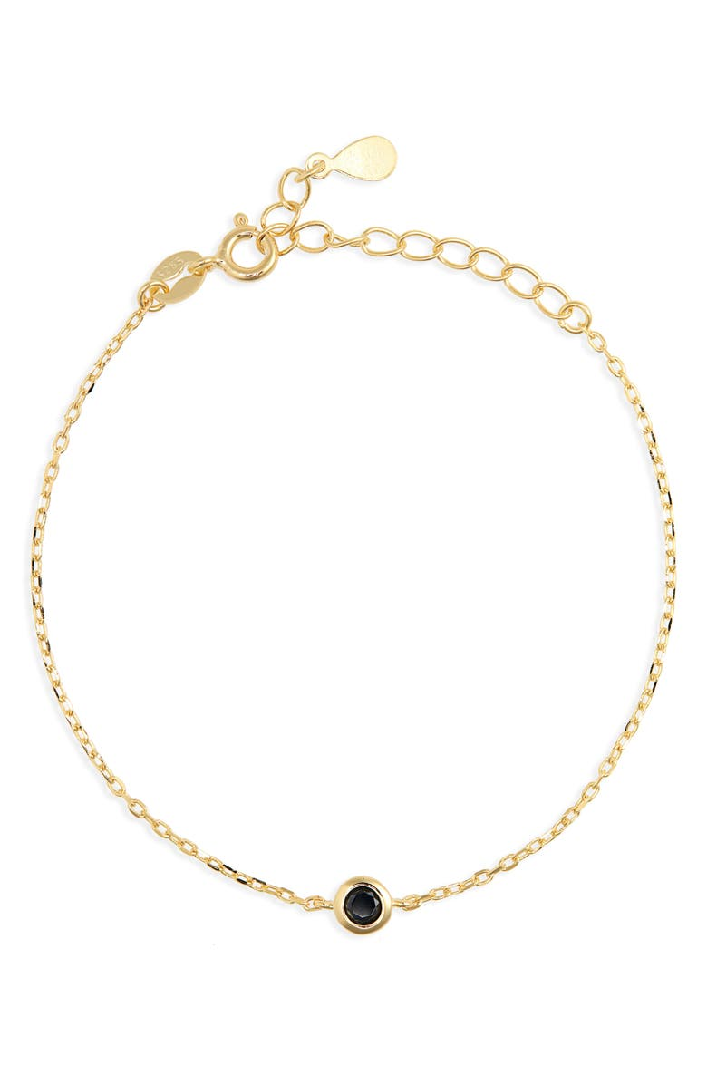 STELLA AND BOW Mars Bracelet, Main, color, GOLD/ BLACK CZ STONE