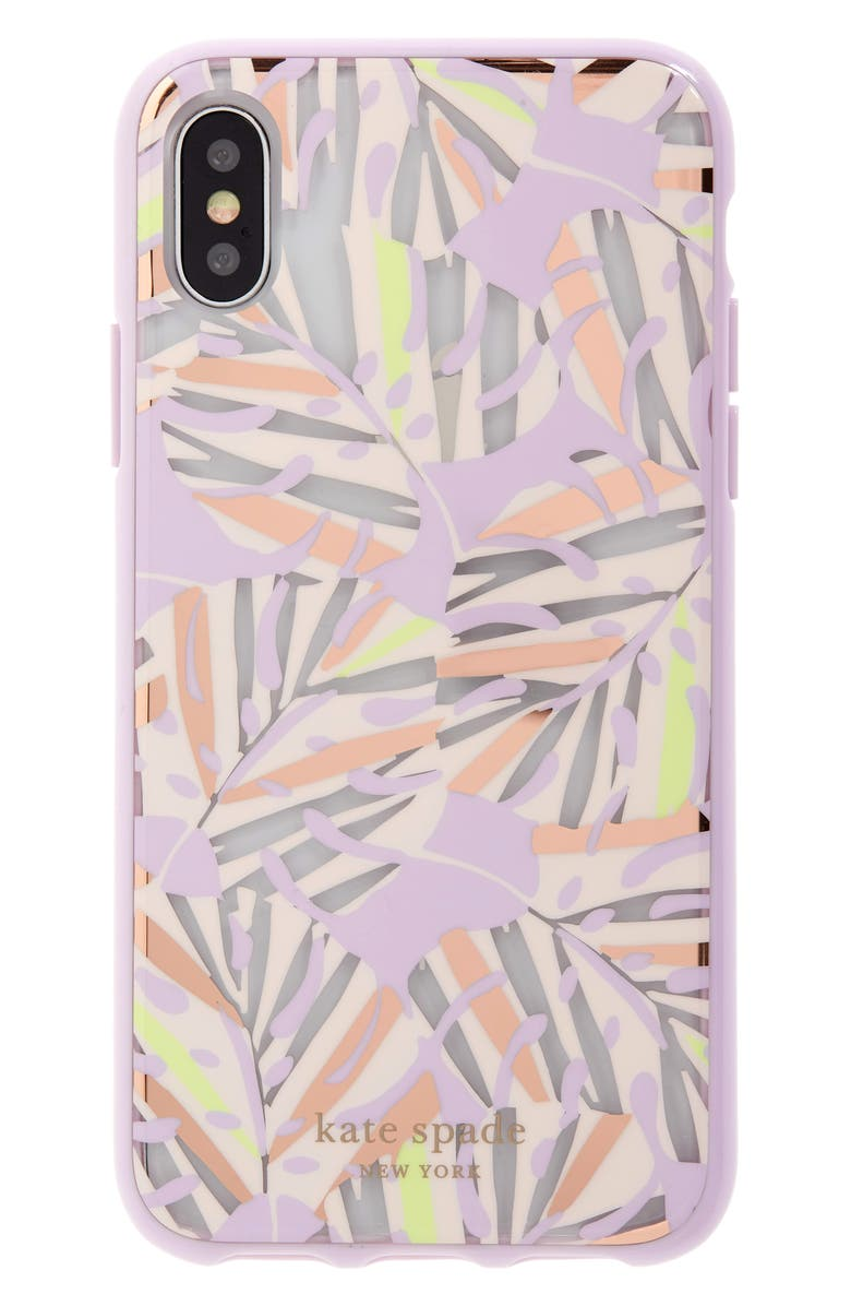 KATE SPADE NEW YORK island leaf iPhone X/Xs/Xs Max & XR case, Main, color, MULTI