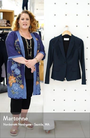 Jibalena Microcheck Wool Suit Jacket, sales video thumbnail