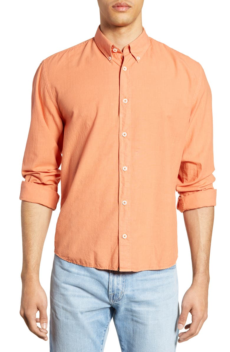 BILLY REID Taylor Standard Fit Shirt, Main, color, SALMON