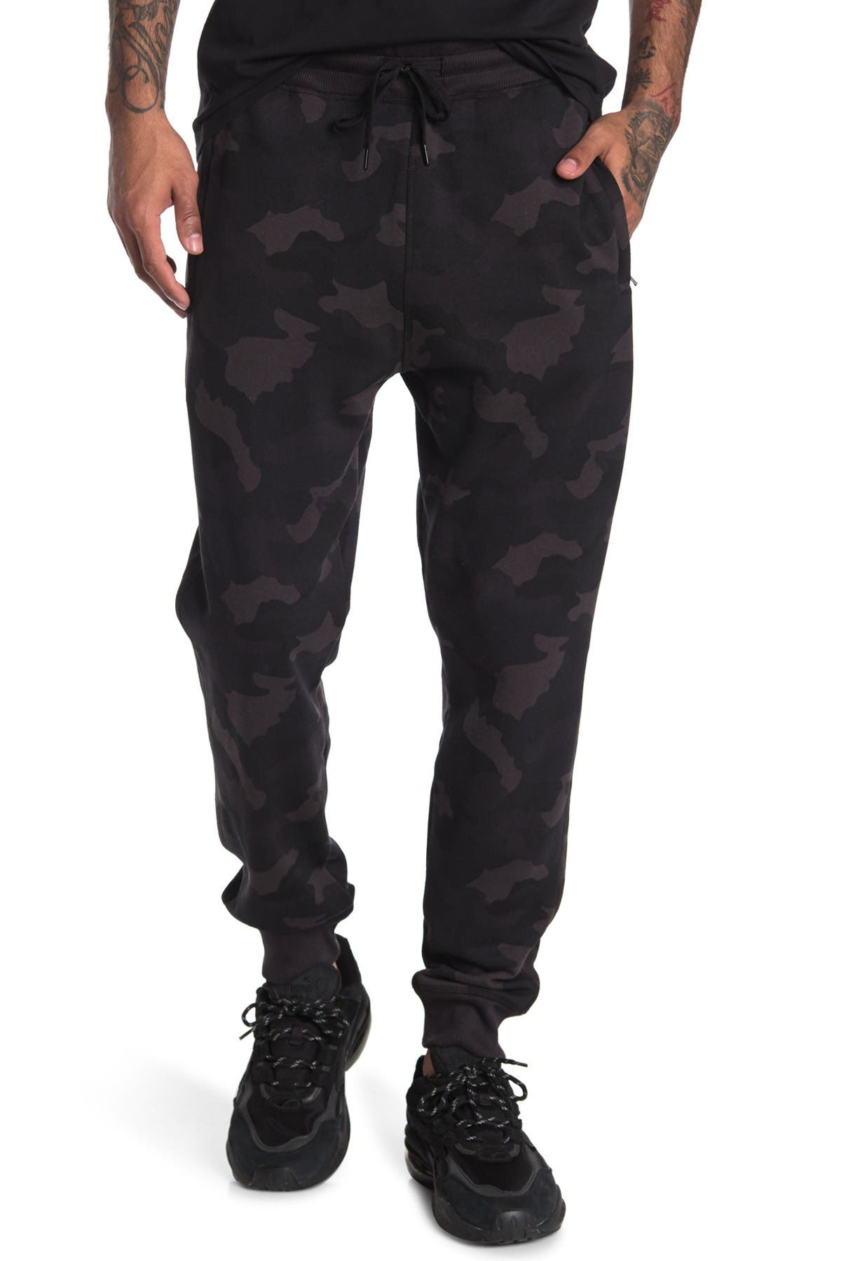 Image of 90 Degree By Reflex Brushed Fleece Joggers