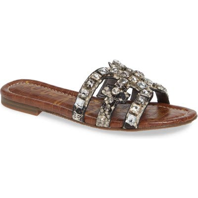 Sam Edelman Bay 2 Embellished Slide Sandal, Grey