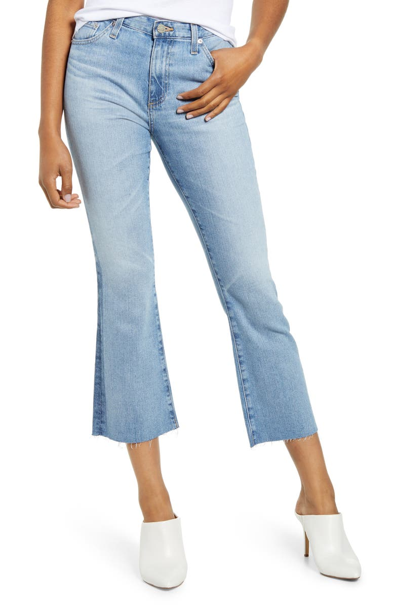 AG Jodi Flare Crop Jeans 19 Yrs Blue Accent