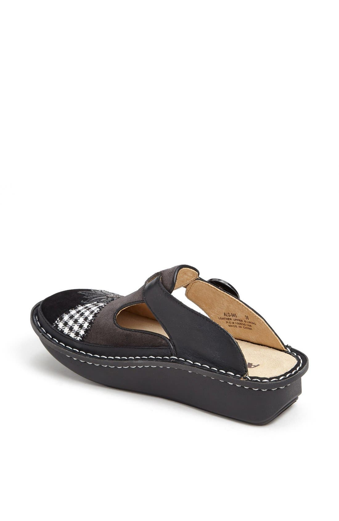 ,                             'Classic' Clog,                             Alternate thumbnail 4, color,                             LASER TAG LEATHER