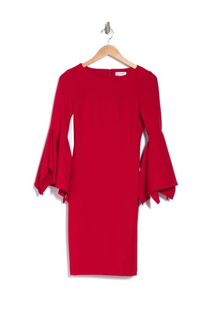 Image of Calvin Klein Big Sleeve Sheath Dress