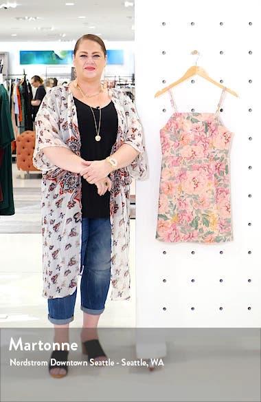 Urban Outfitters Floral Print Denim Minidress, sales video thumbnail