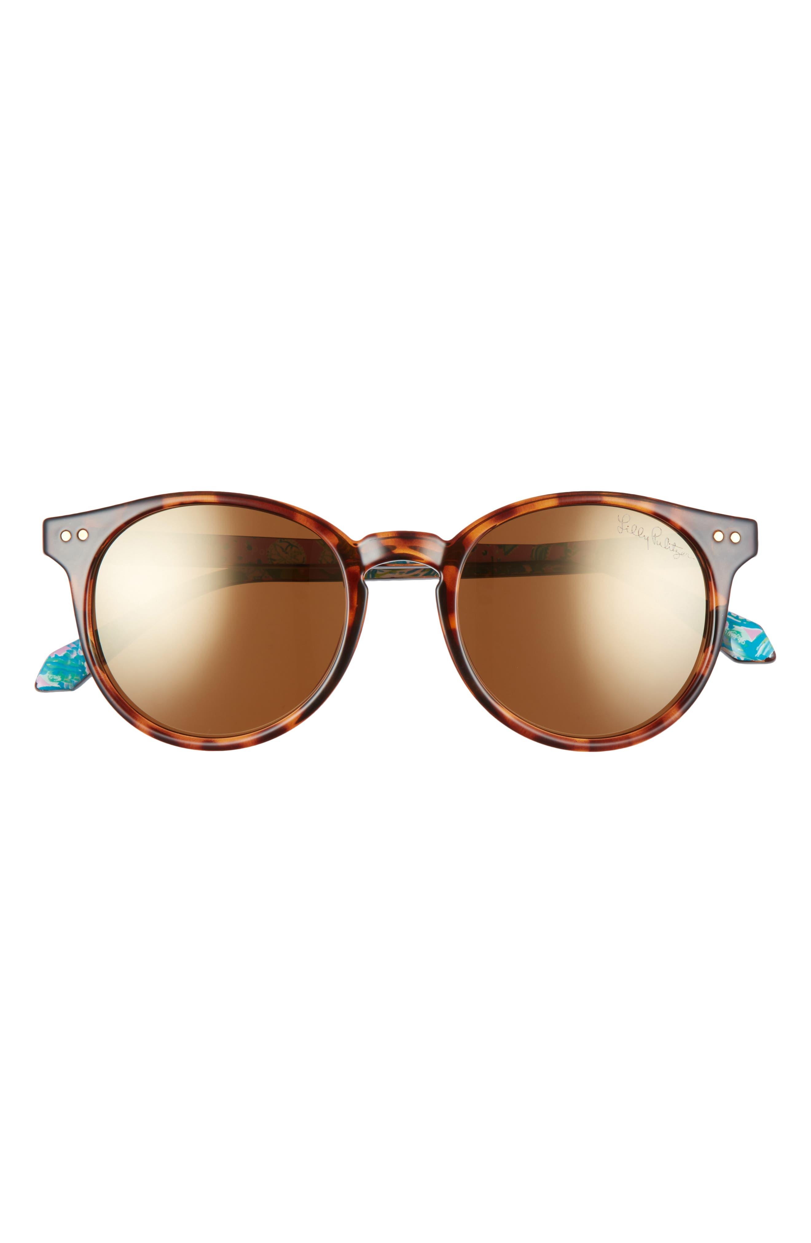 Women's Lilly Pulitzer Elodie 50mm Polarized Round Sunglasses