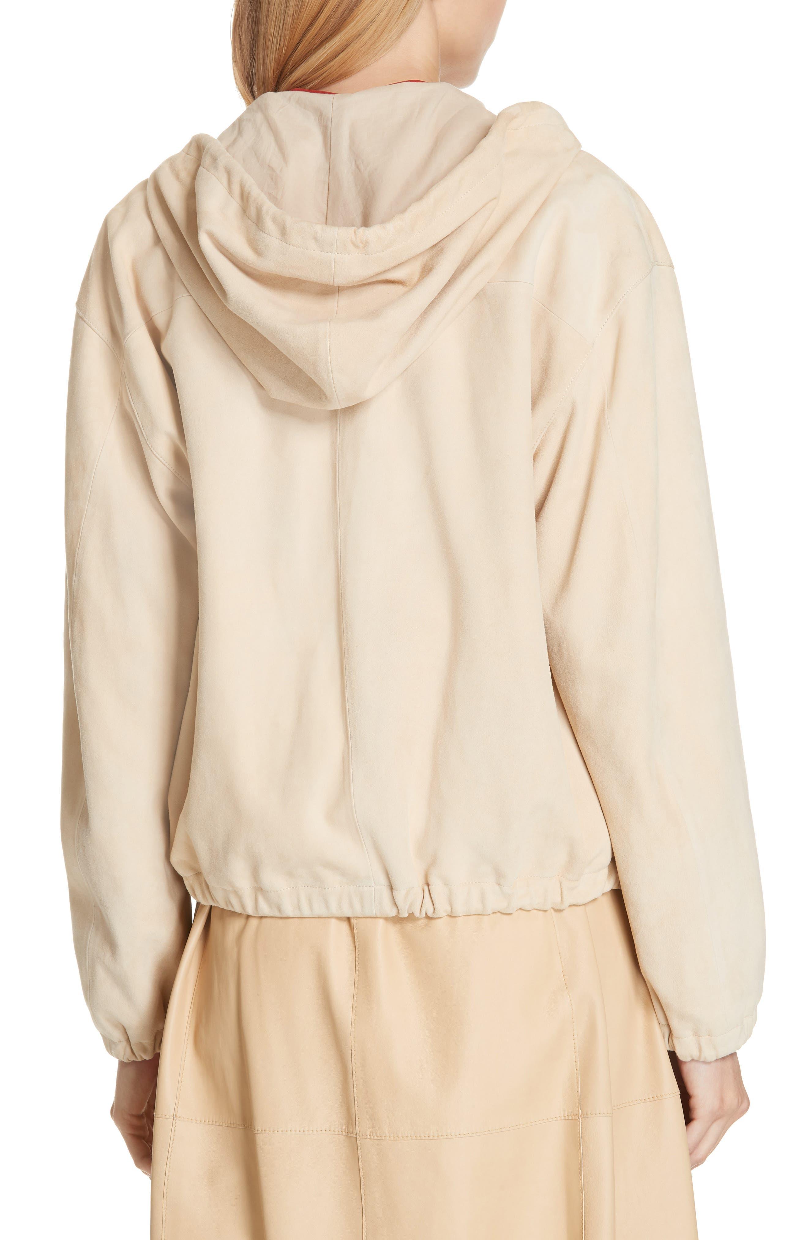 ,                             Suede Zip Hooded Jacket,                             Alternate thumbnail 2, color,                             FENNEL