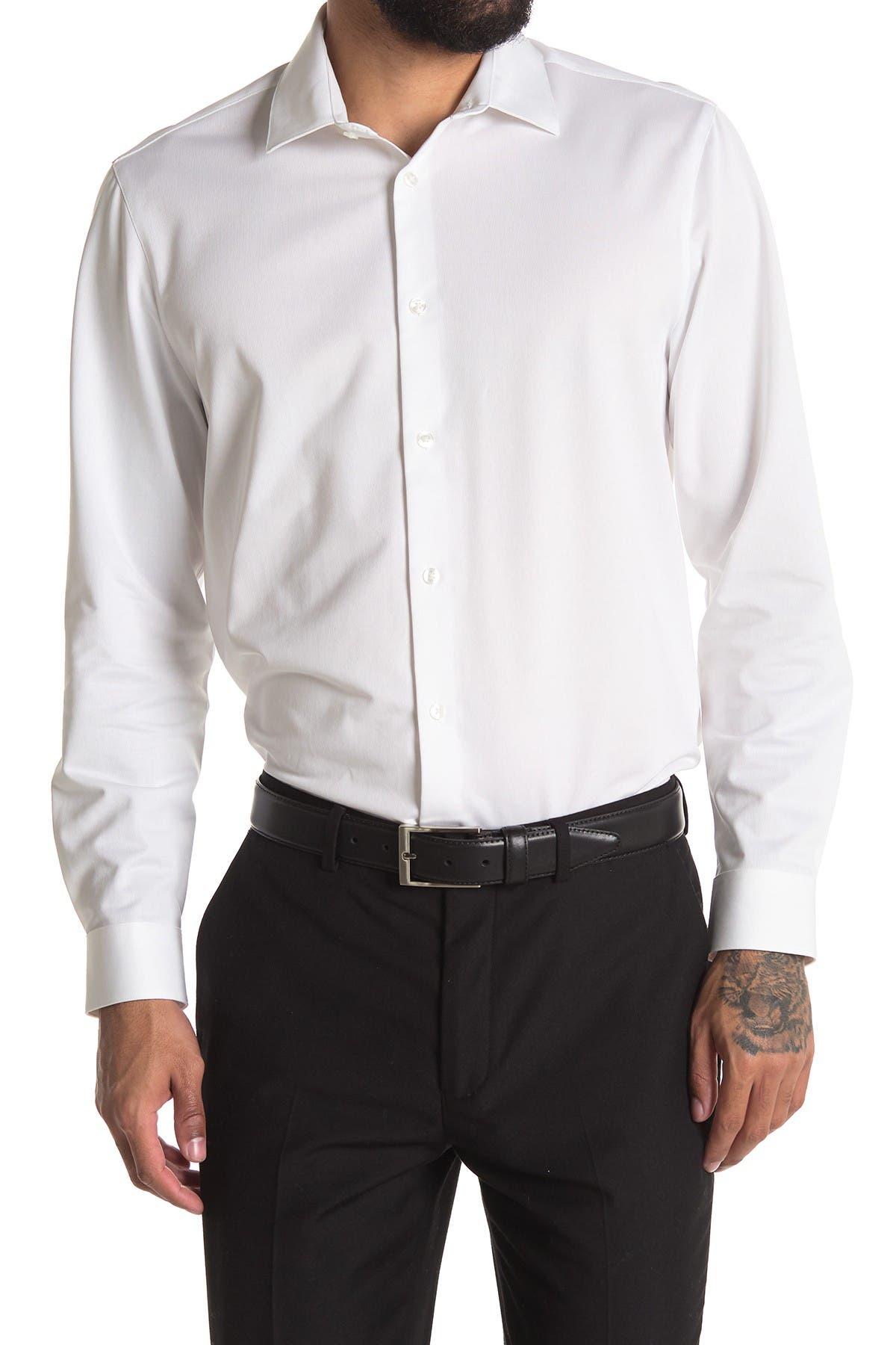 Image of Calvin Klein Long Sleeve Non-Iron Slim Stretch Shirt