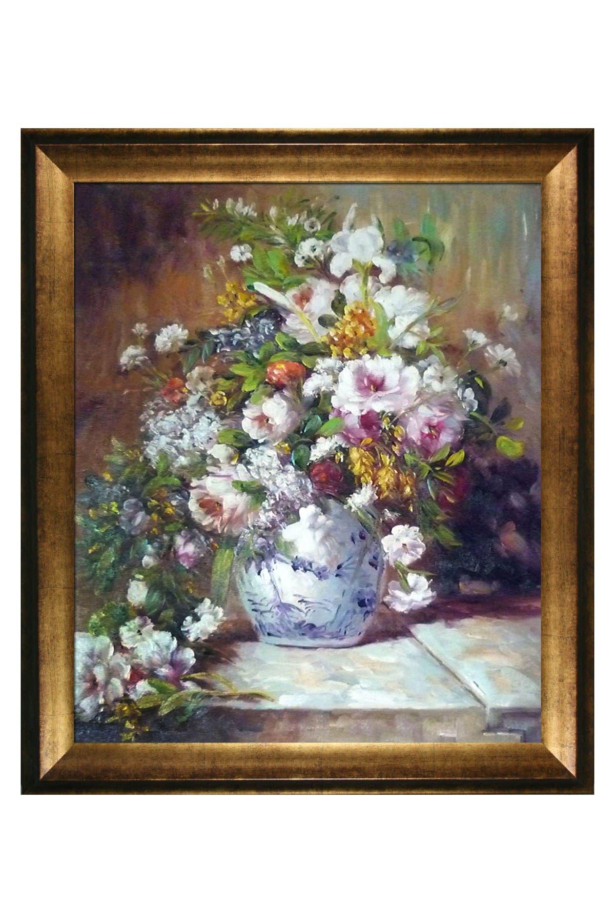 Overstock Art Gr&e Vase Di Fiori with Athenian Gold Frame, 25\\\