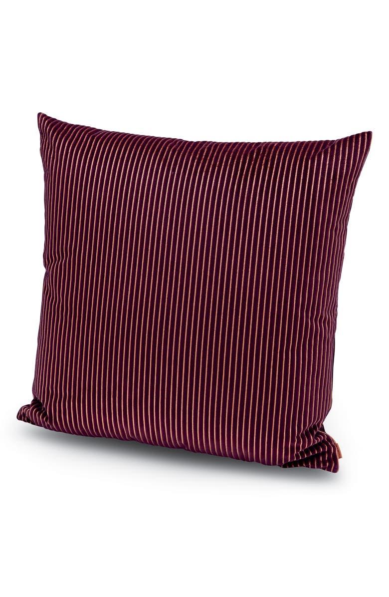 MISSONIHOME Missoni Rafah Stripe Accent Pillow, Main, color, BERRY