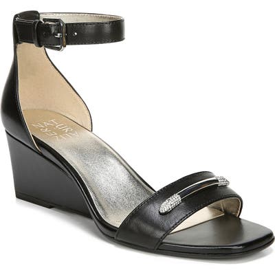 Naturalizer Zenia Wedge Sandal- Black