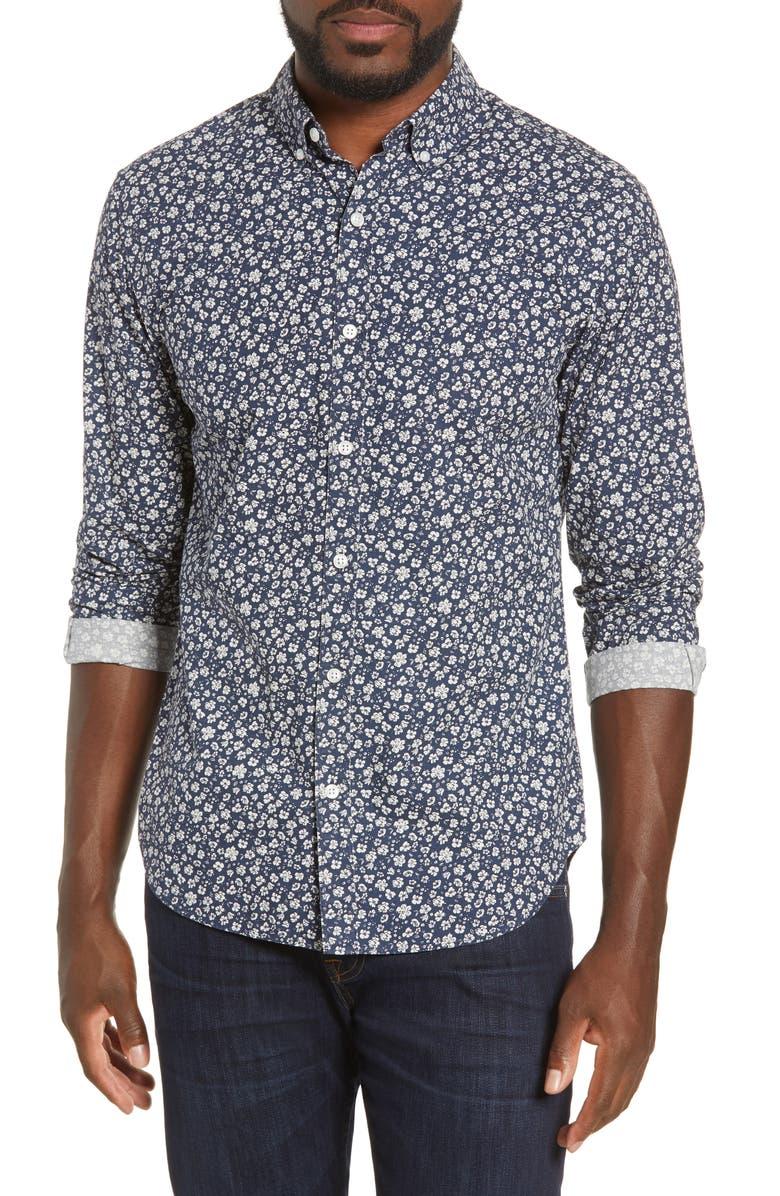 BONOBOS Slim Fit Floral Button-Down Shirt, Main, color, 400