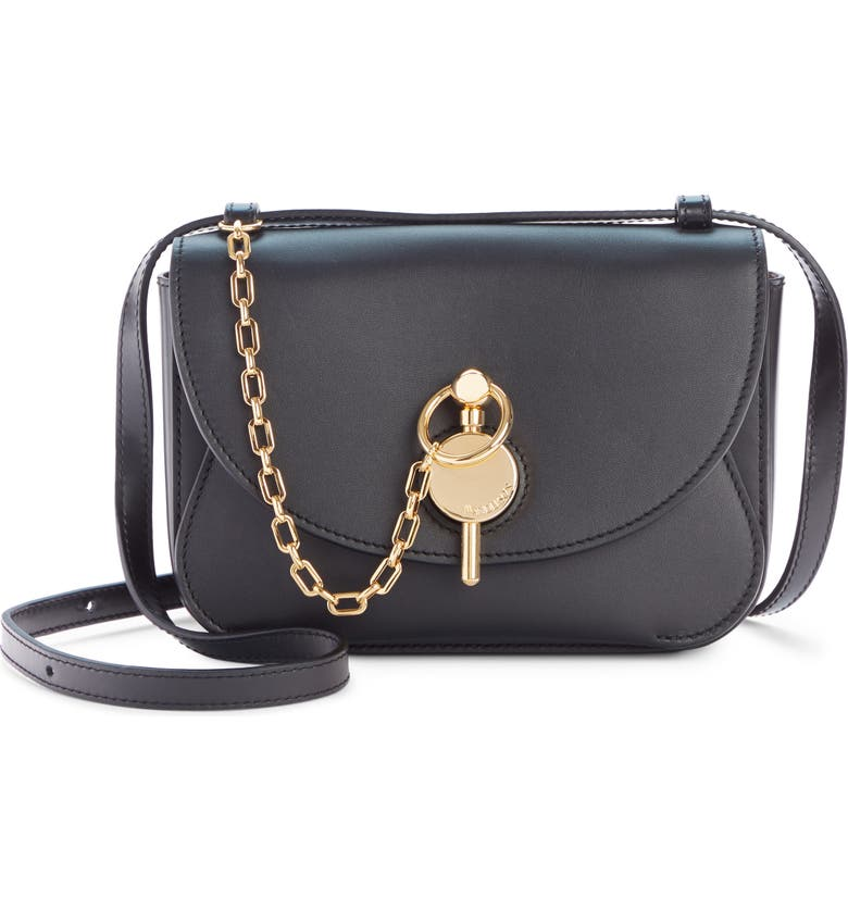JW ANDERSON Mini Key Leather Crossbody Bag, Main, color, BLACK