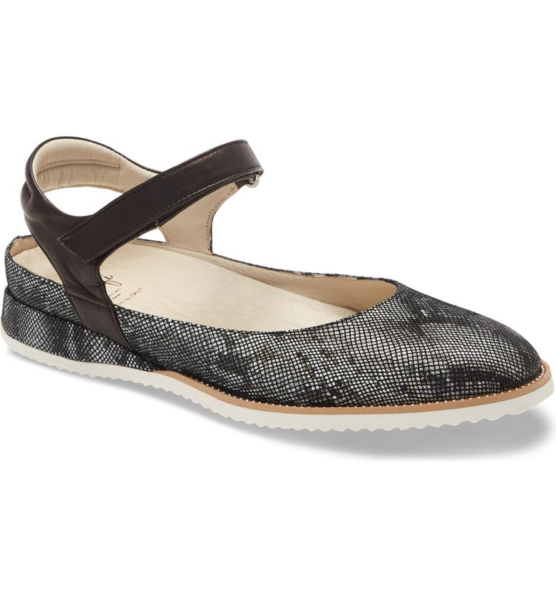 AMALFI BY RANGONI Edorado Flat, Main, color, BLACK VIP PEARL LEATHER