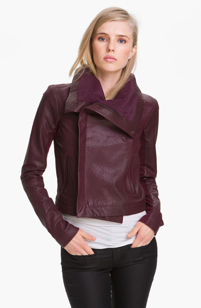 VEDA 'Max' Leather Jacket, Main, color, 600