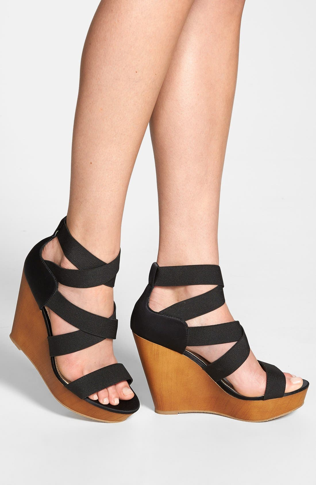 ,                             'Val' Wedge Sandal,                             Alternate thumbnail 6, color,                             001