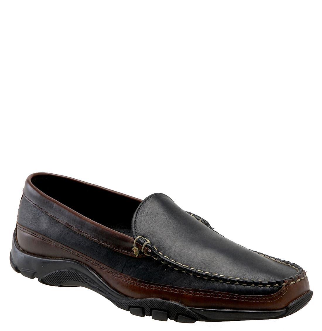 'Boulder' Driving Loafer, Main, color, Black/Brown