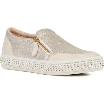 Geox Leelu Slip-On Sneaker, Ivory