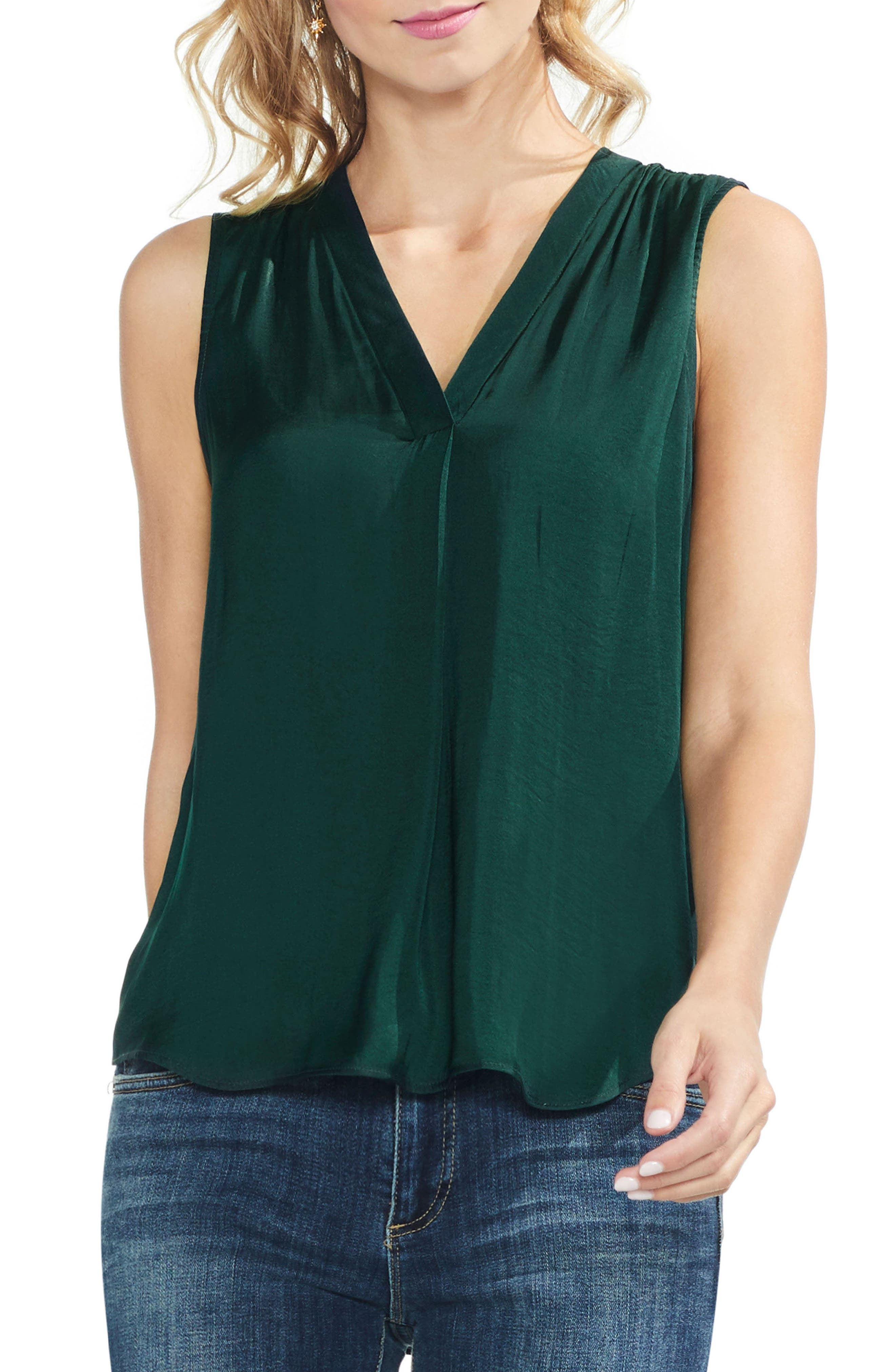 ,                             Rumpled Satin Blouse,                             Main thumbnail 142, color,                             313