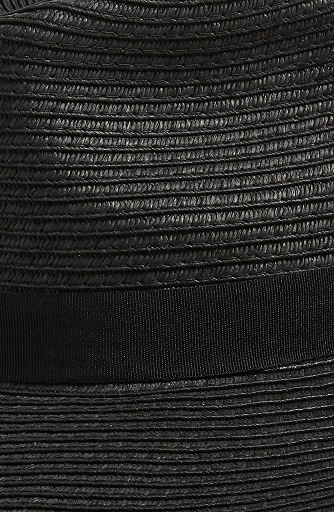 ,                             Wide Brim Straw Hat,                             Alternate thumbnail 2, color,                             BLACK