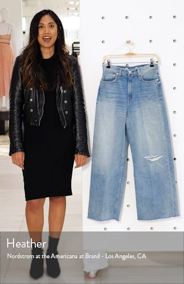 Ruth Ripped Super High Waist Ankle Wide Leg Jeans, sales video thumbnail