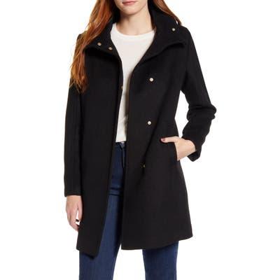 Cole Haan Signature Snap Front Wool Blend Coat