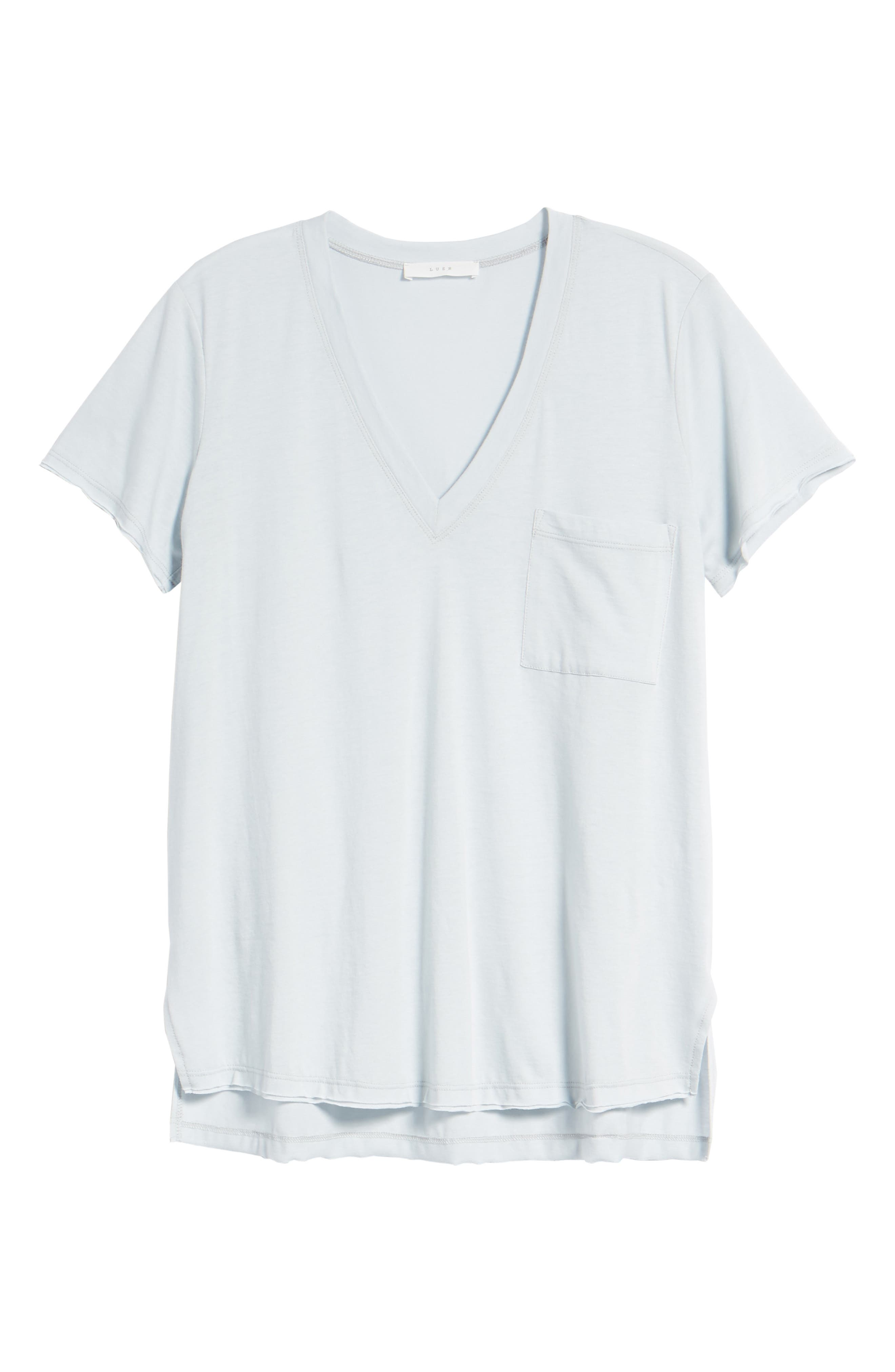,                             Raw Edge Side Slit Tee,                             Alternate thumbnail 6, color,                             073