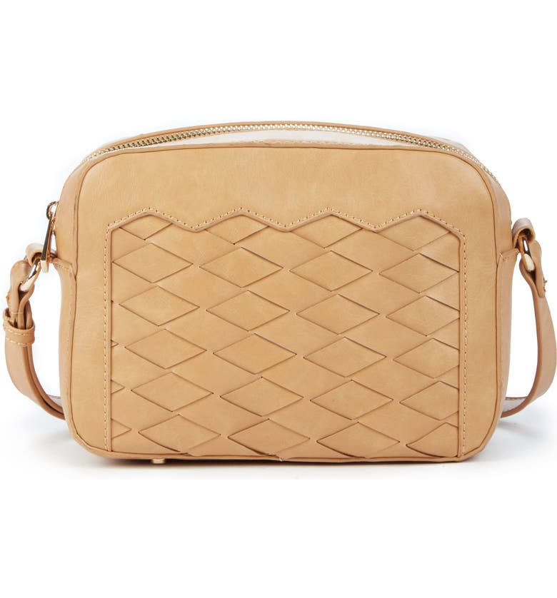 SOLE SOCIETY Hand Woven Faux Leather Crossbody Bag, Main, color, 232